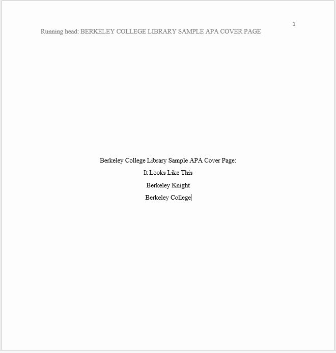 Apa Title Page In Word New How Can I Create A Cover Page In Apa for My Paper
