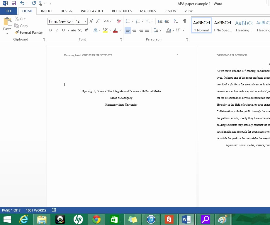 Apa Title Page In Word Unique formatting Apa Style In Microsoft Word 2013 8