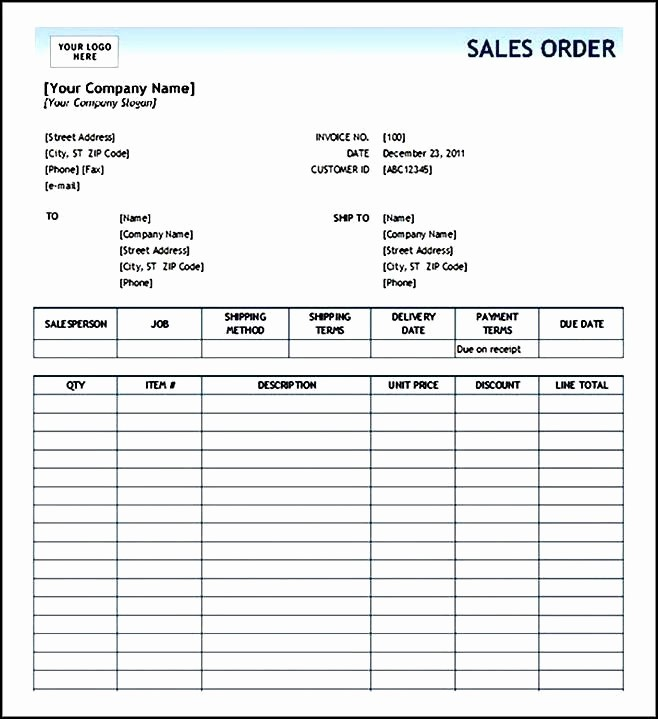 Apparel order form Template Excel Elegant order form Template Excel Sample order Templates