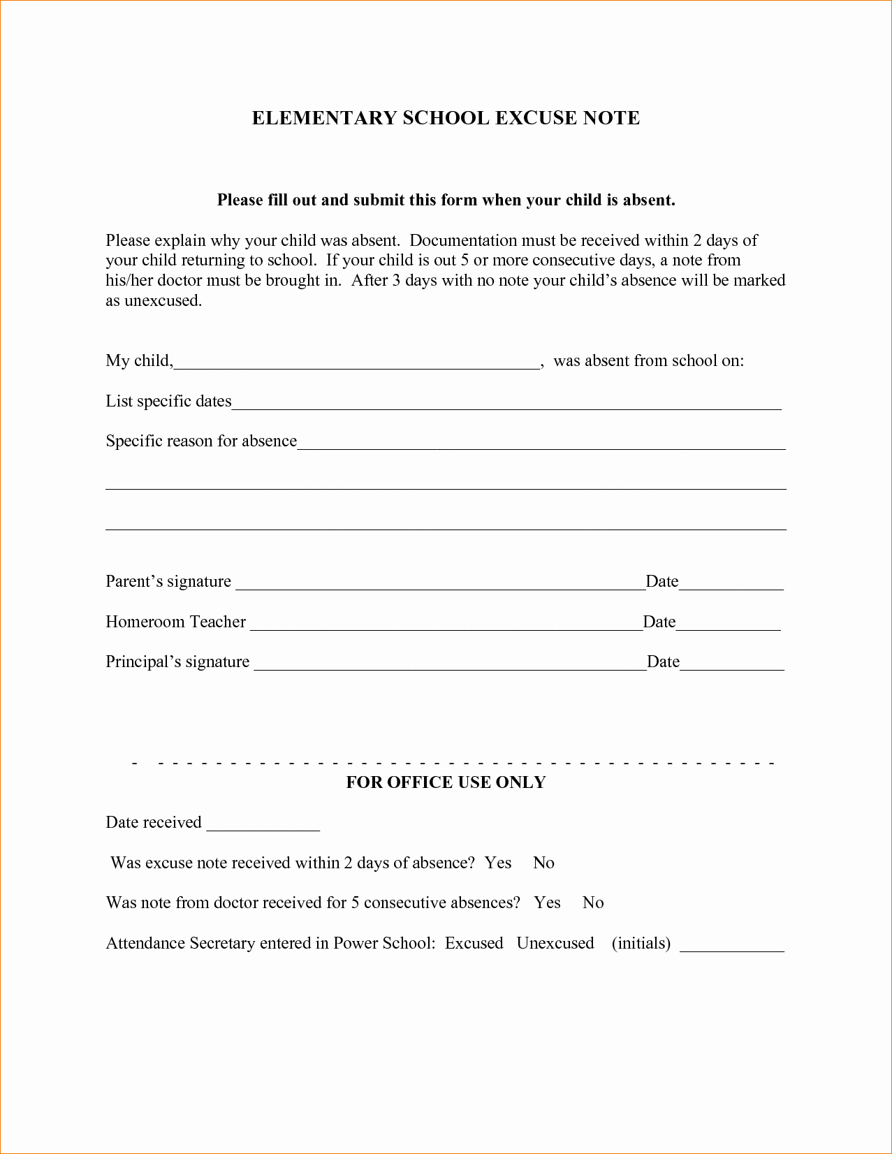 Application for Absent In School Elegant Application Letter Leave Absence School