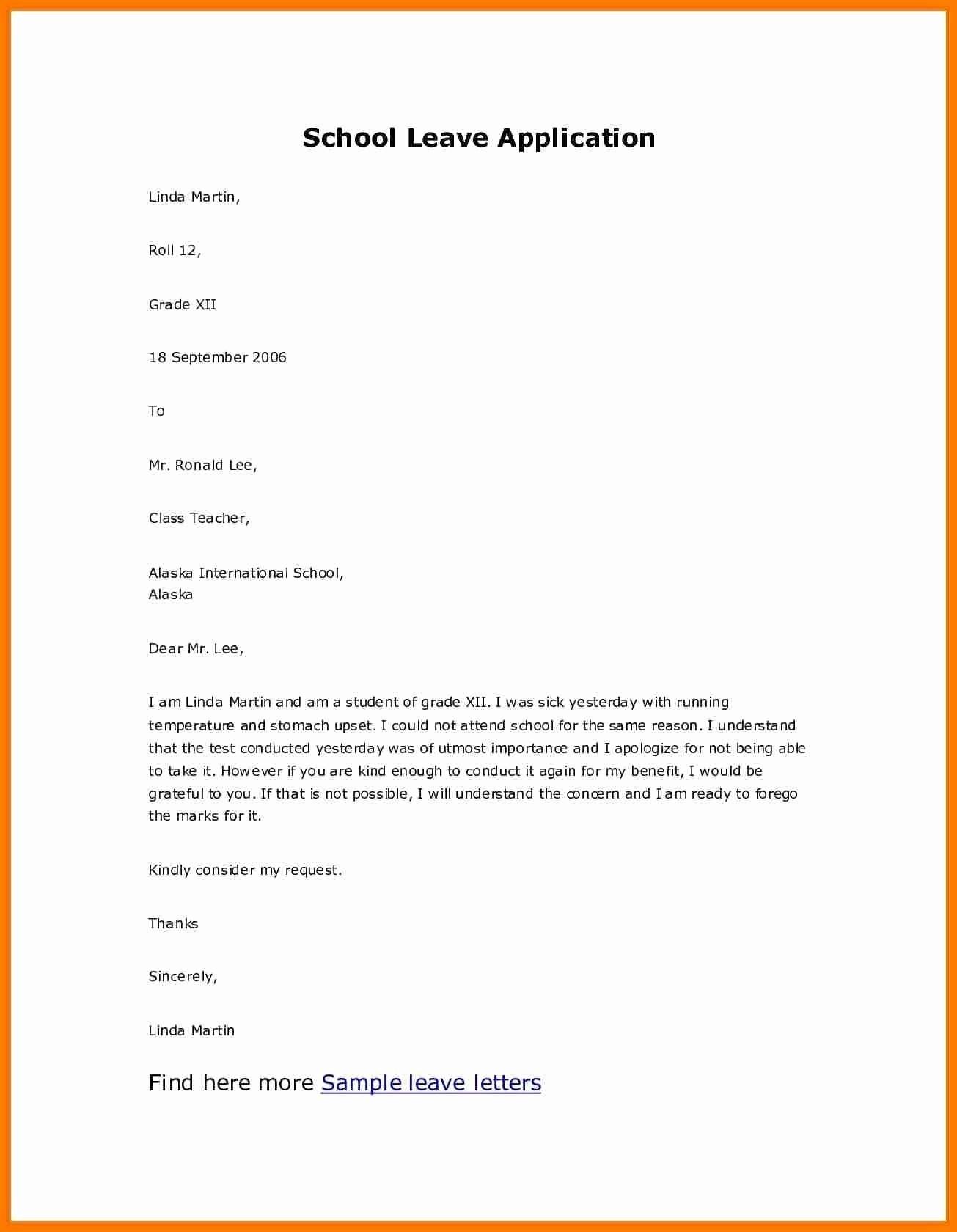 Application for Absent In School Elegant Sample Zip Code Archives Wakisen Valid Sample