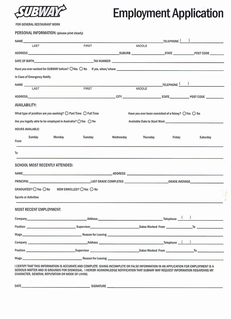 Application for Employment form Free Awesome Best 25 Printable Job Applications Ideas On Pinterest