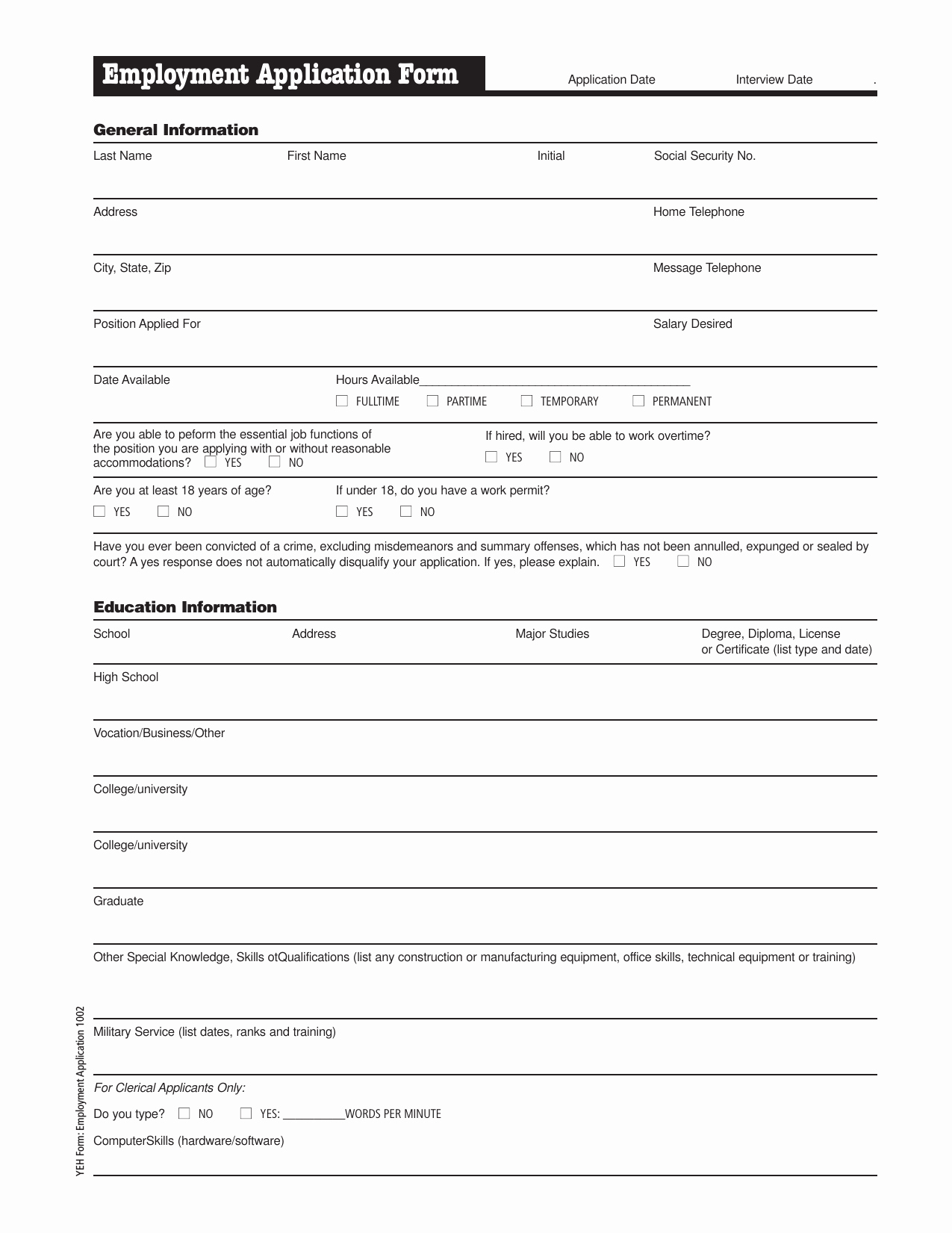Application for Employment form Pdf Lovely Download Meijer Job Application form – Careers