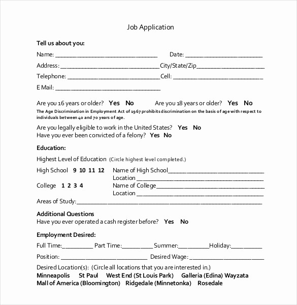 Application for Employment Free Template New 21 Employment Application Templates Pdf Doc