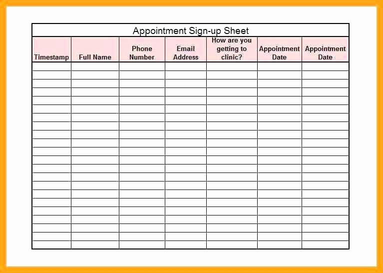 Appointment Sign In Sheet Template Elegant Medical Patient Sign In Sheet Appointment Template