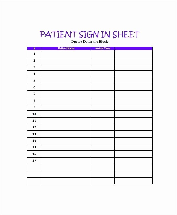 Appointment Sign In Sheet Template Unique Dental Fice Sign In Sheet Template Medical Clergy