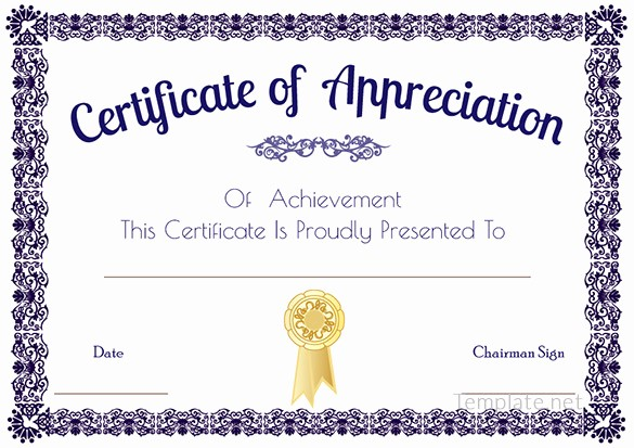 Appreciation Certificate Templates for Word Awesome Certificate Template – 41 Free Printable Word Excel Pdf
