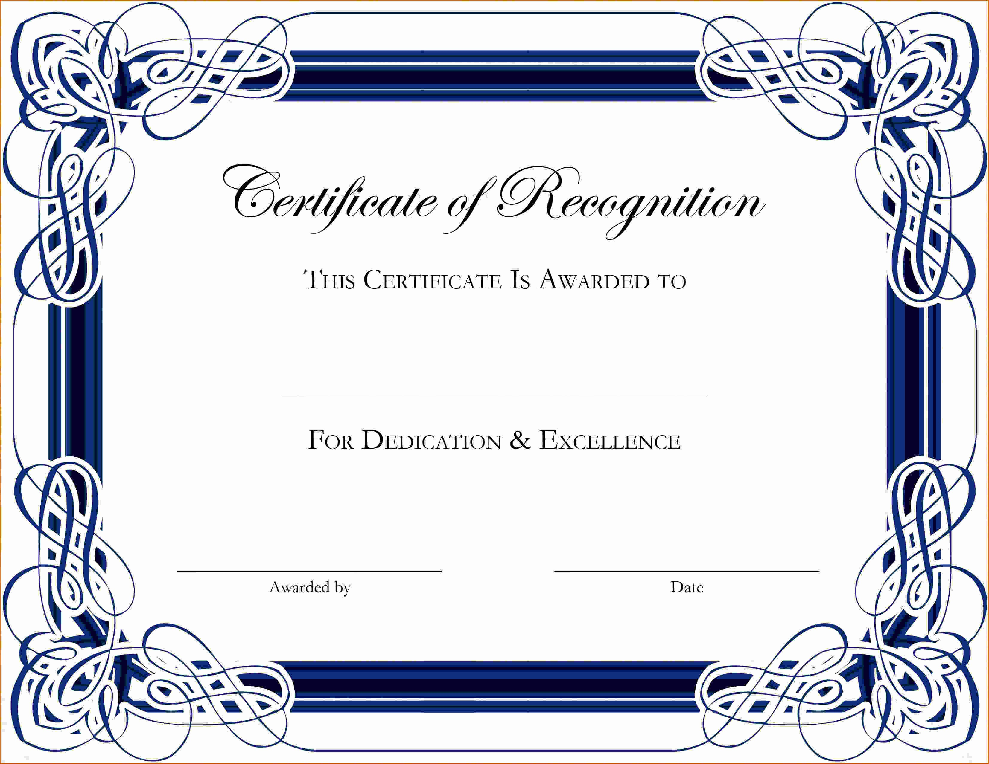 Appreciation Certificate Templates for Word Best Of 5 Certificate Of Appreciation Template Word
