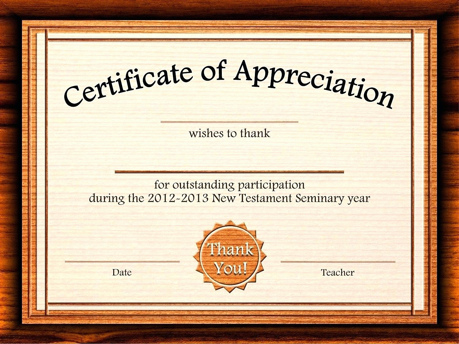 Appreciation Certificate Templates for Word Best Of Template Customizable Certificate Template