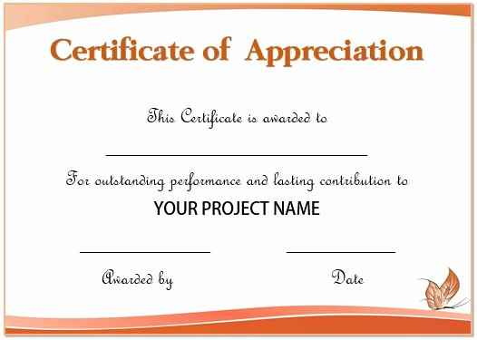 Appreciation Certificate Templates for Word Elegant 50 Professional Free Certificate Of Appreciation