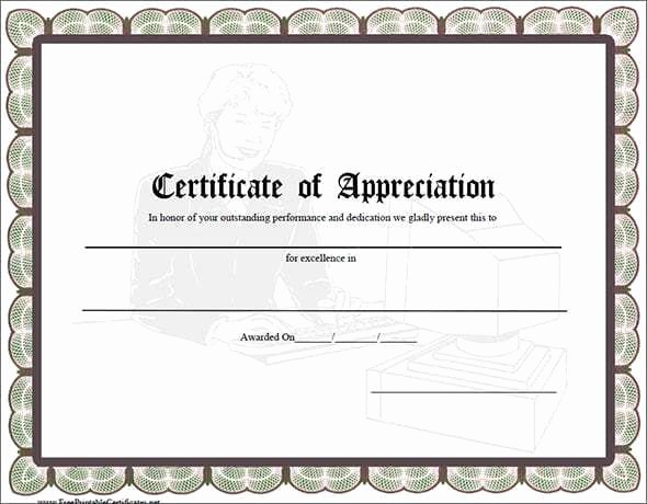 Appreciation Certificate Templates for Word Inspirational 10 Certificate Of Appreciation Templates Word Excel Pdf