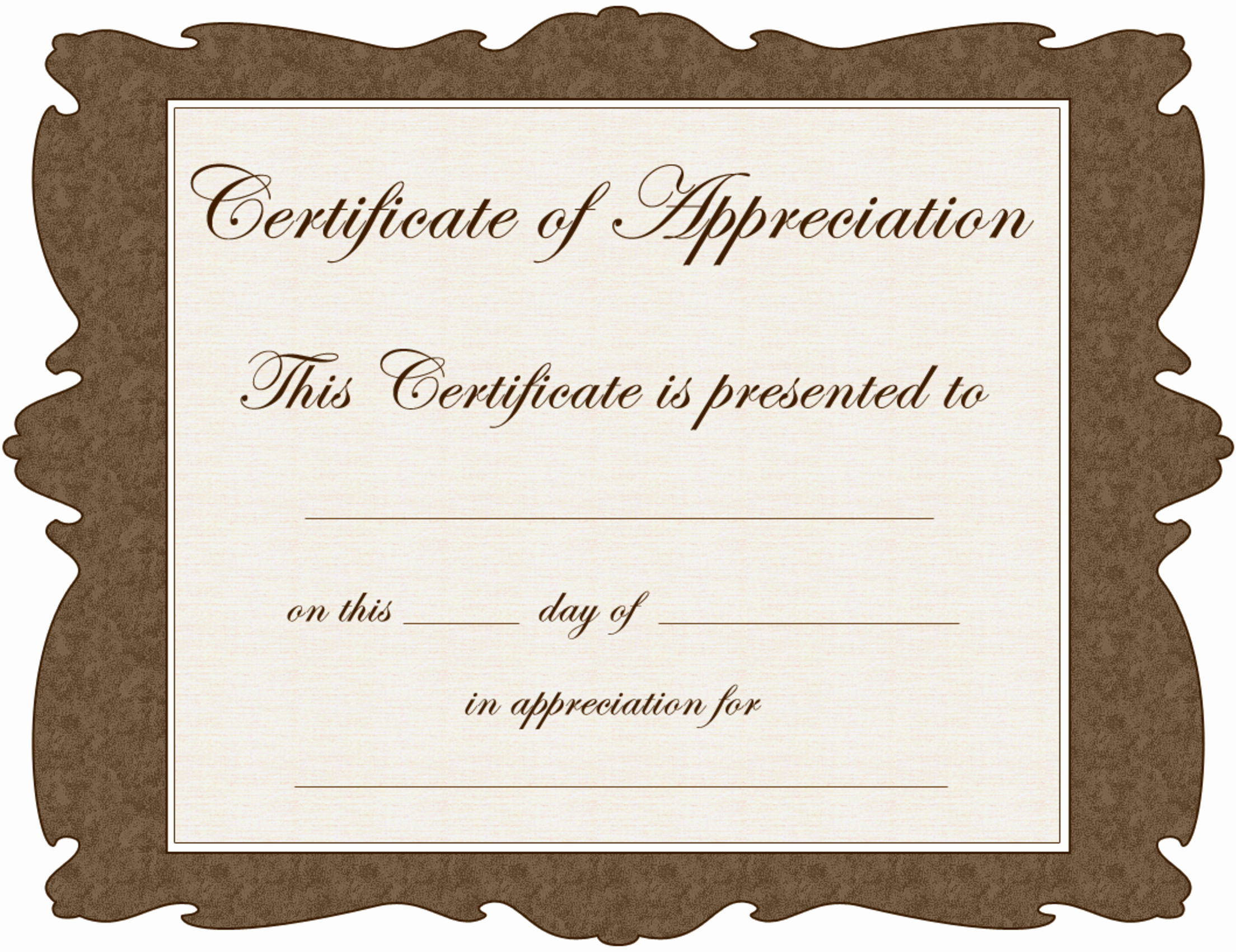 Appreciation Certificate Templates for Word New Free Word Certificate Appreciation Template Pdf by