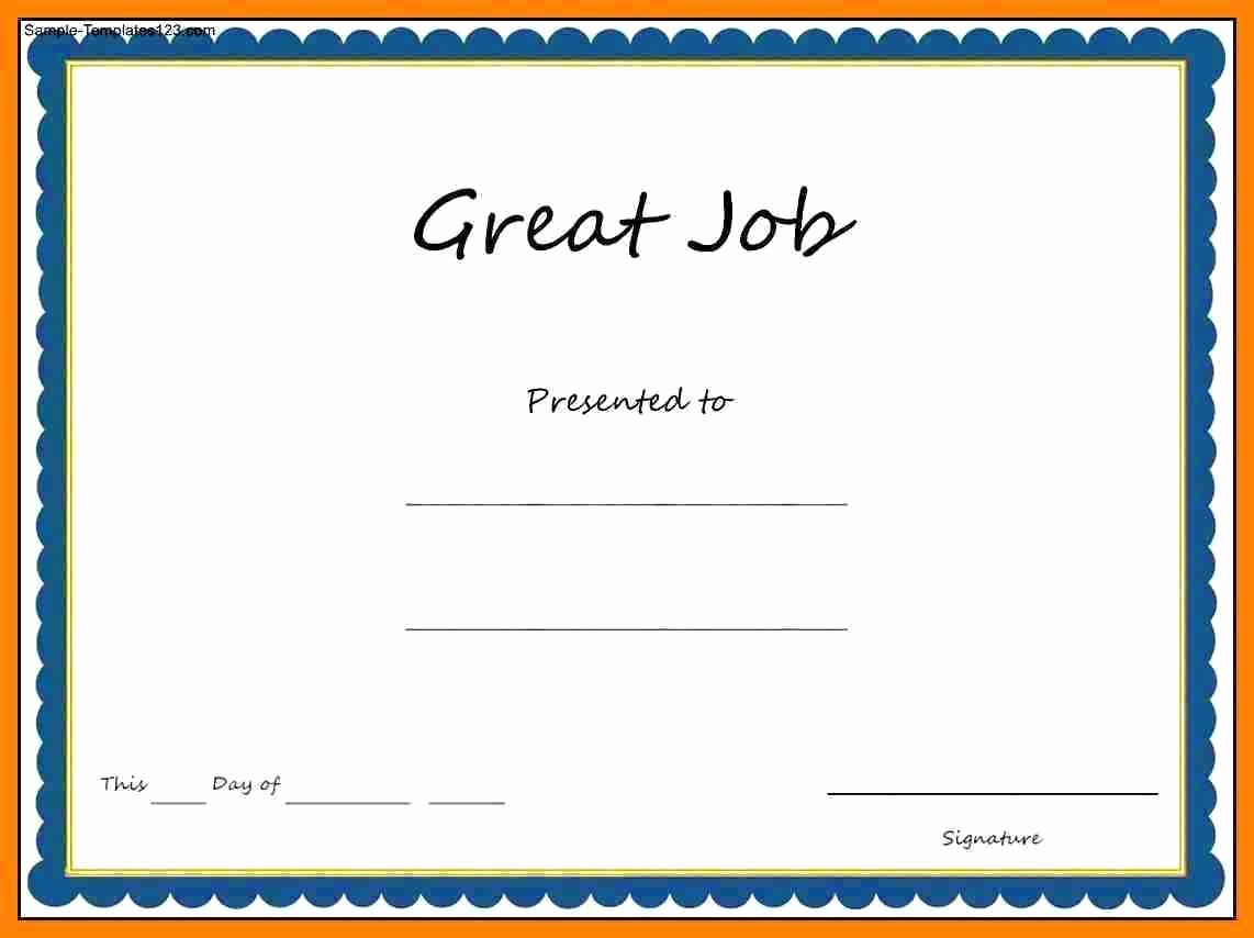 Appreciation Certificate Templates for Word New Template Recognition Certificate Template Word