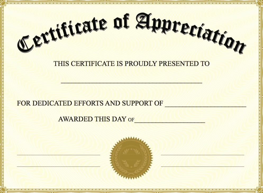 Appreciation Certificate Templates for Word New Thank You Certificate Template Word Templates Data