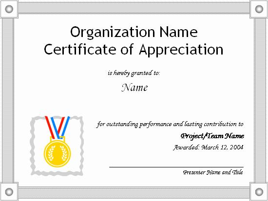 Appreciation Certificate Templates for Word Unique Certificates Fice