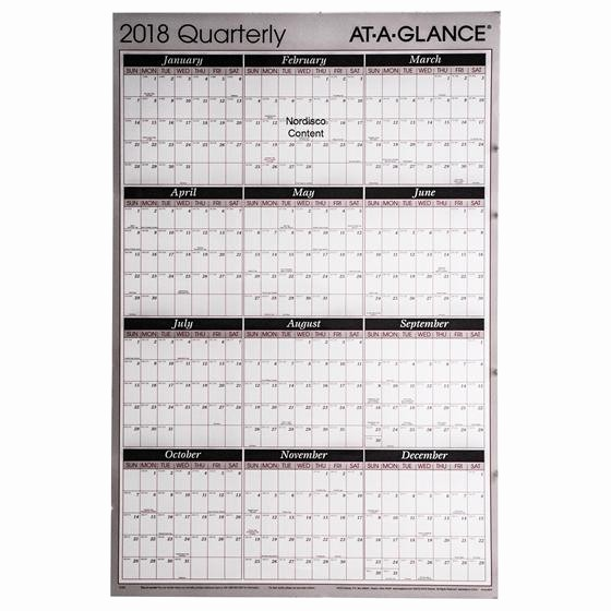 At A Glance 2018 Calendar Beautiful at A Glance 2018 Quarterly A123 A123 18 Erasable Wall
