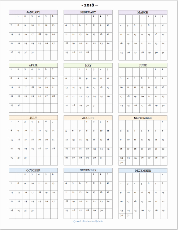 At A Glance 2018 Calendar Elegant 2018 Calendars for Advanced Planning Flanders Family