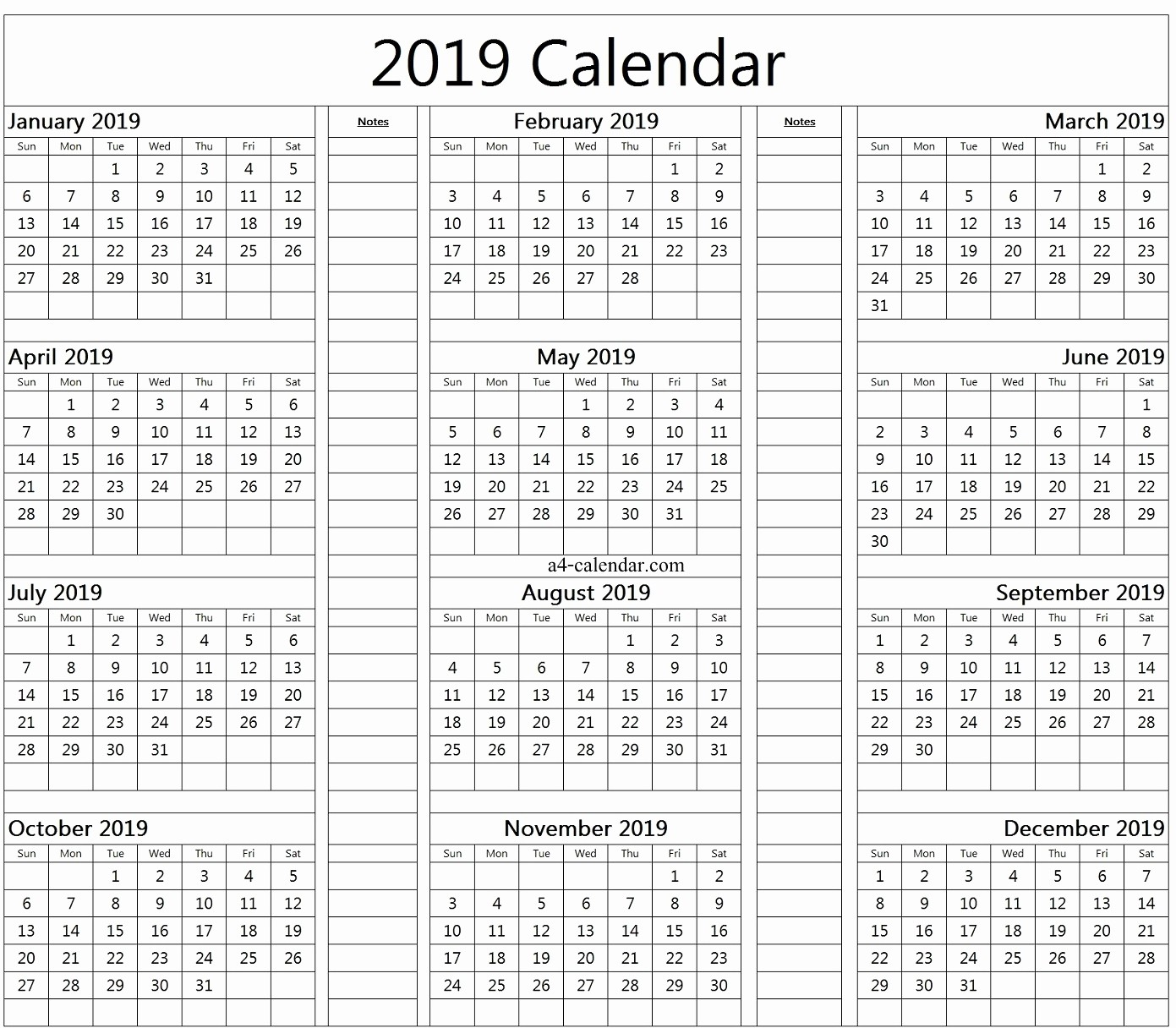 At A Glance 2018 Calendar Fresh at A Glance Calendar 2019