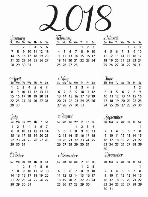 """At A Glance 2018 Calendar Fresh Résultat De Recherche D Images Pour """"printable Yearly"""
