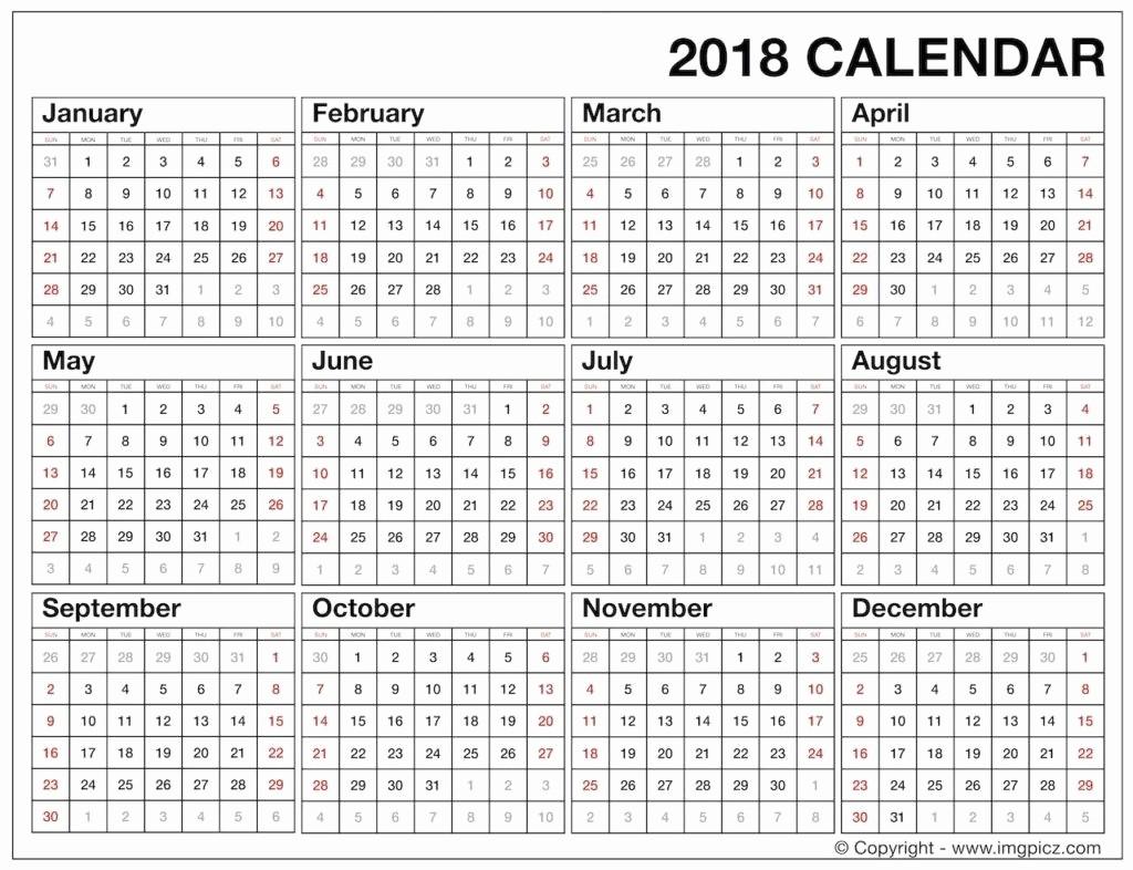 At A Glance 2018 Calendar Inspirational Calendar Year at A Glance 2018 – Template Calendar Design