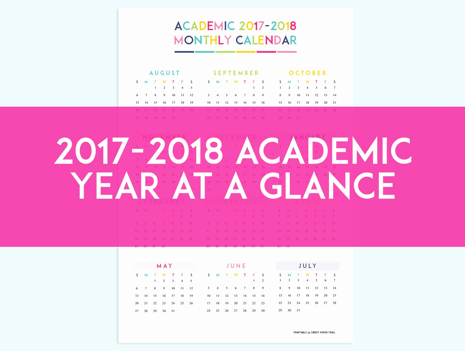 At A Glance 2018 Calendar Lovely 2017 2018 Academic Planner Calendar Refills Sweet