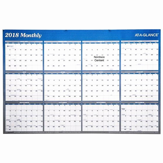 At A Glance 2018 Calendar Lovely at A Glance A1152 A1152 18 2018 Erasable Wall Calendar 32