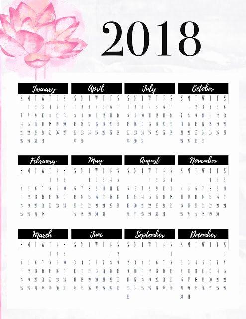 At A Glance 2018 Calendar Luxury Freebie Friday 2018 Year at A Glance