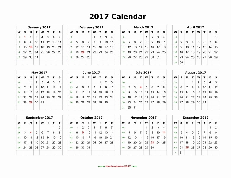 At A Glance Yearly Calendars Best Of Year at A Glance Calendar 2017 Free Printable Free