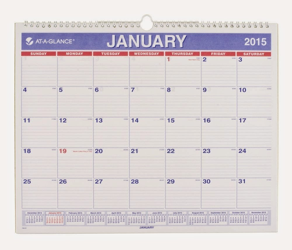 At A Glance Yearly Calendars Fresh at A Glance Monthly Wall Calendar 2015