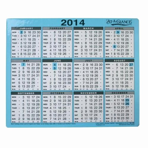 At A Glance Yearly Calendars Lovely 2014 Year at A Glance