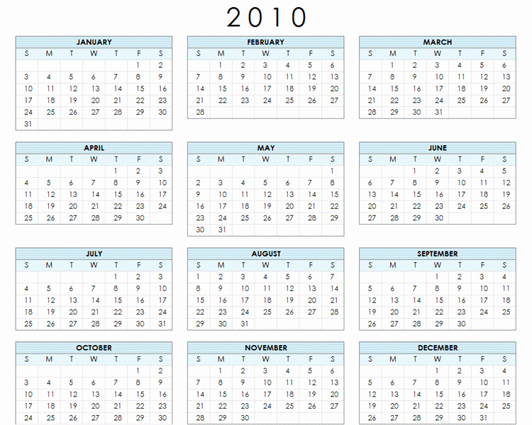 At A Glance Yearly Calendars New Free Printable Year at A Glance