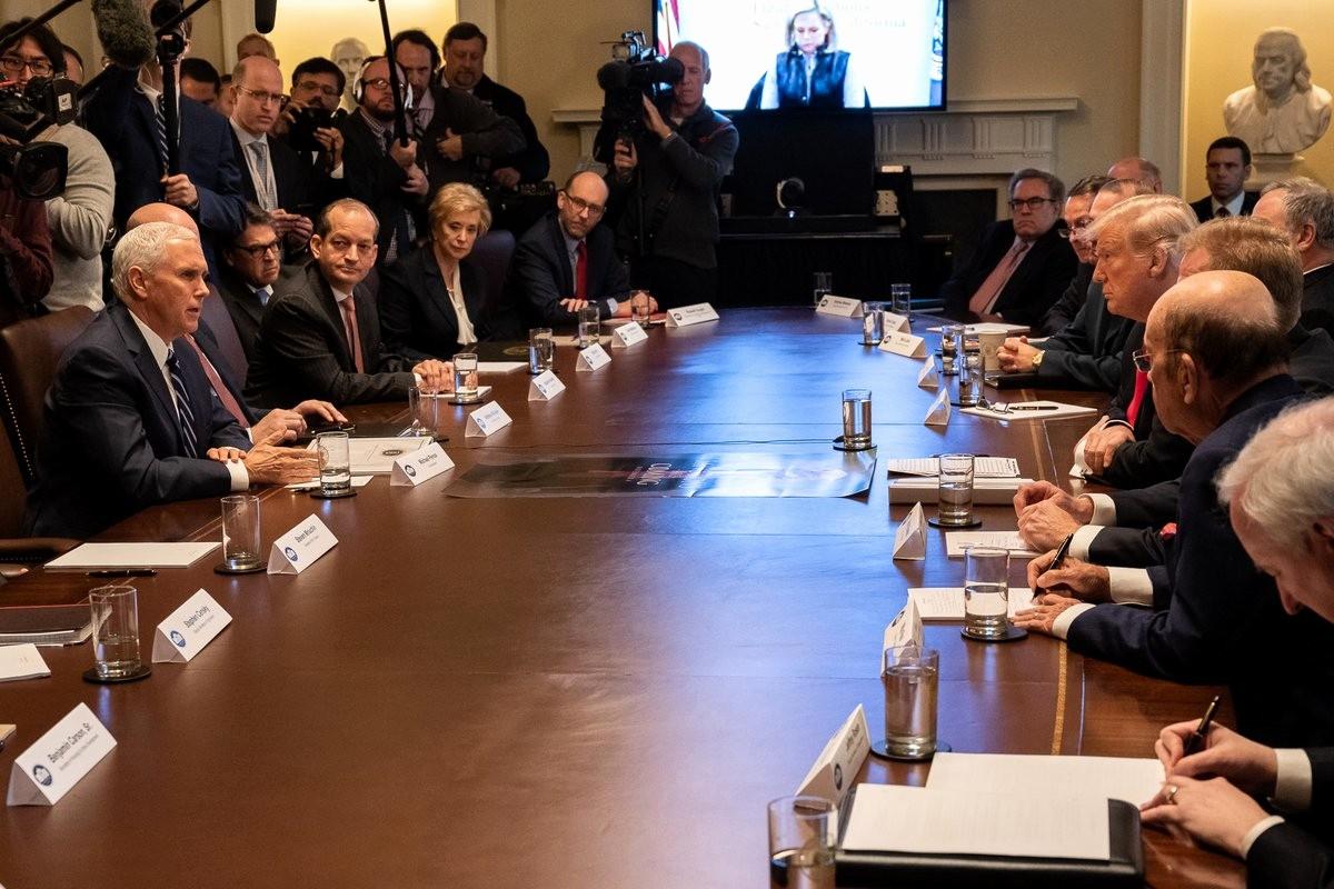 president trump holds first cabinet meeting of 2019 full media presser
