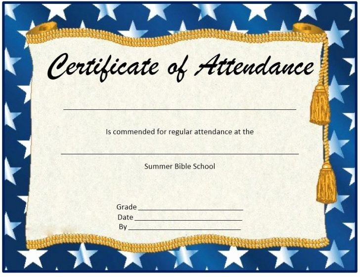Attendance Certificate format for Employees Awesome 30 Printable Employee the Month Certificates Template