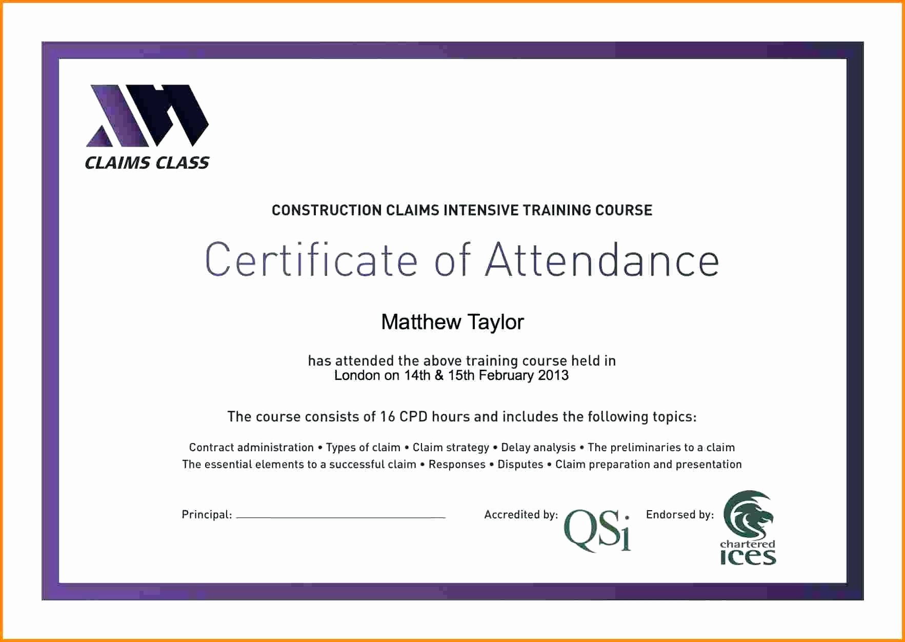 Attendance Certificate format for Employees Awesome Template 100 attendance Certificate Template