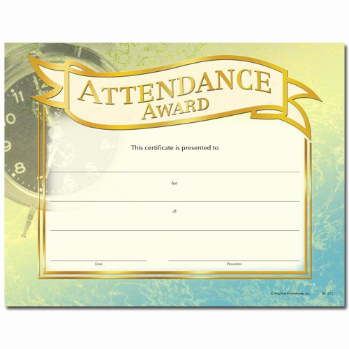 Attendance Certificate format for Employees Beautiful Best S Of Employee Perfect attendance Certificates