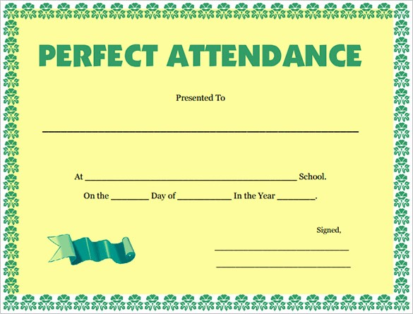 Attendance Certificate format for Employees Best Of Download attendance Certificate Template for Free