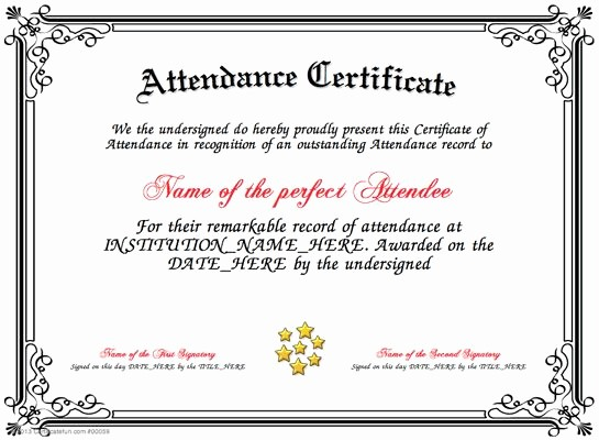 Attendance Certificate format for Employees Best Of Pin by Cookie On Certificates Pinterest