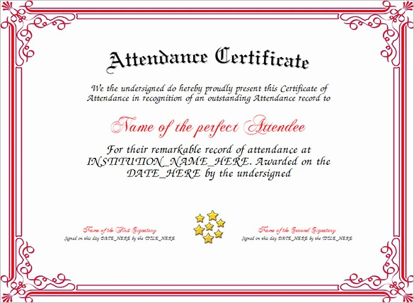 Attendance Certificate format for Employees Elegant 21 attendance Certificate Templates Doc Pdf Psd