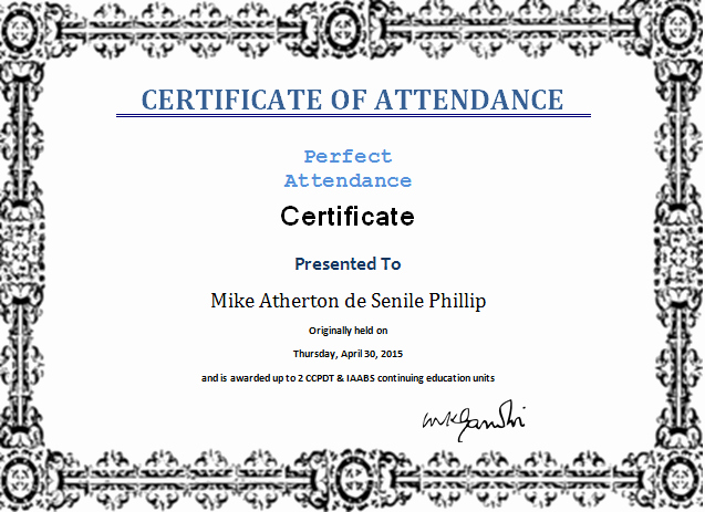 Attendance Certificate format for Employees Elegant Certificate Templates