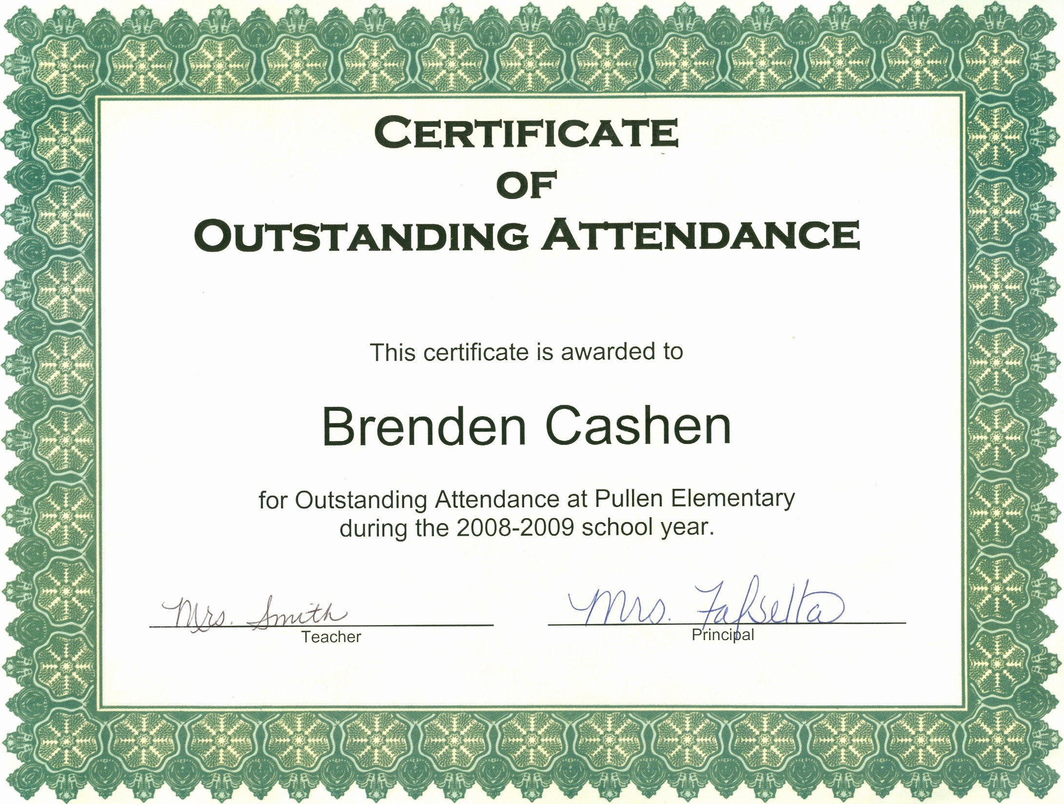 Attendance Certificate format for Employees Elegant Ideas 100 attendance Certificate Templateheivments