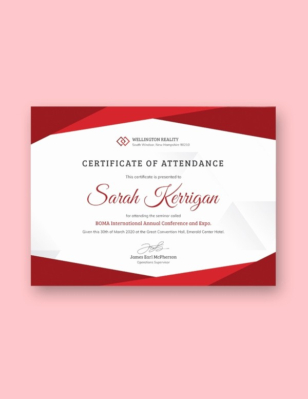 Attendance Certificate format for Employees Fresh 83 Psd Certificate Templates