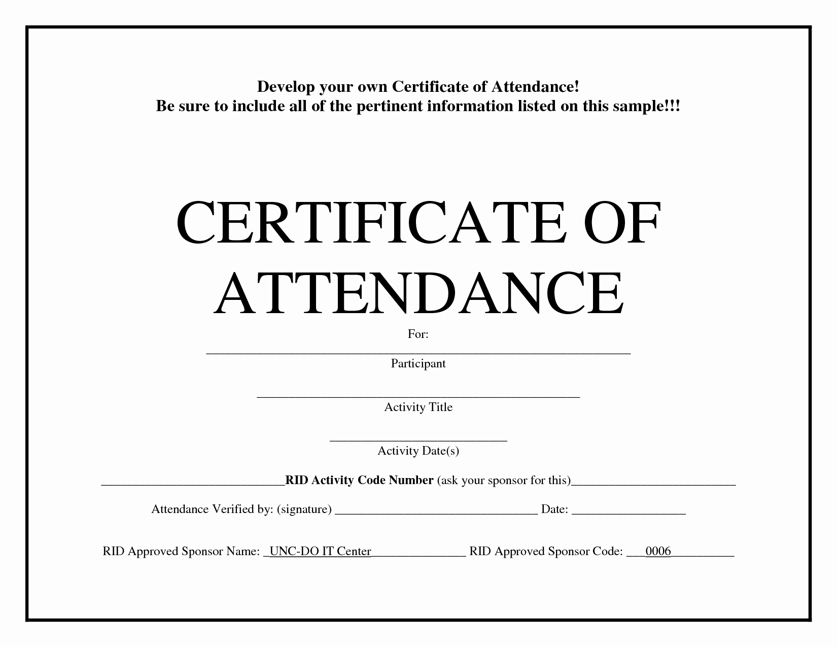 Attendance Certificate format for Employees Inspirational Free Printable Perfect attendance Certificate