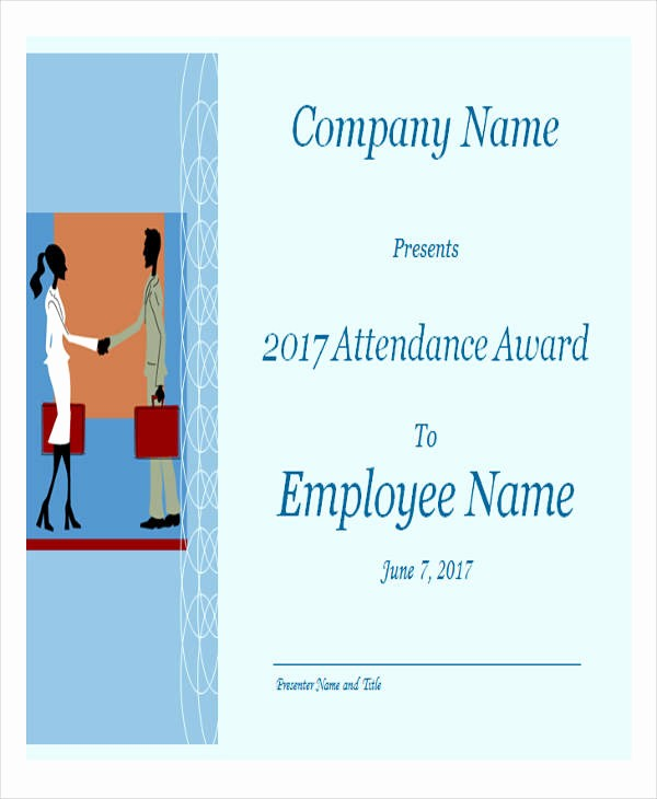 Attendance Certificate format for Employees New 28 Sample Award Certificates