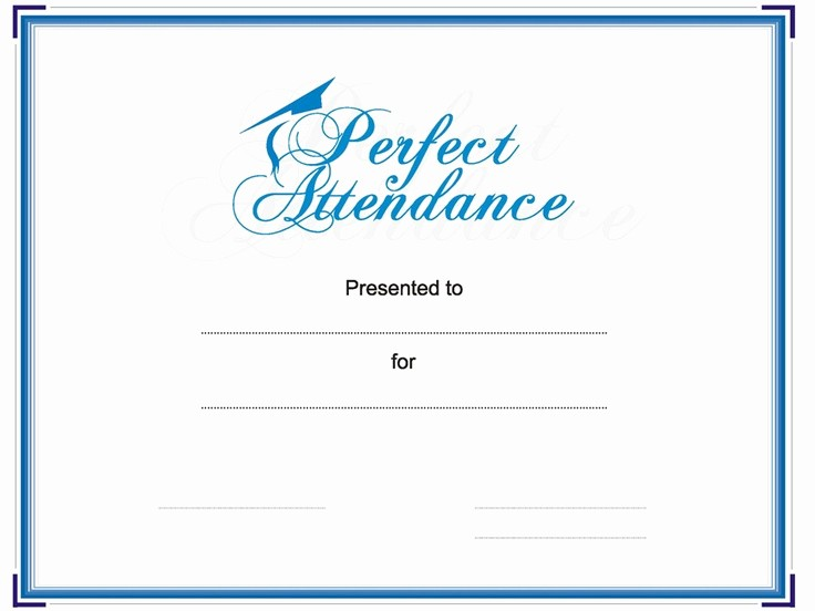 Attendance Certificate format for Employees New 8 Best Perfect attendance Images On Pinterest