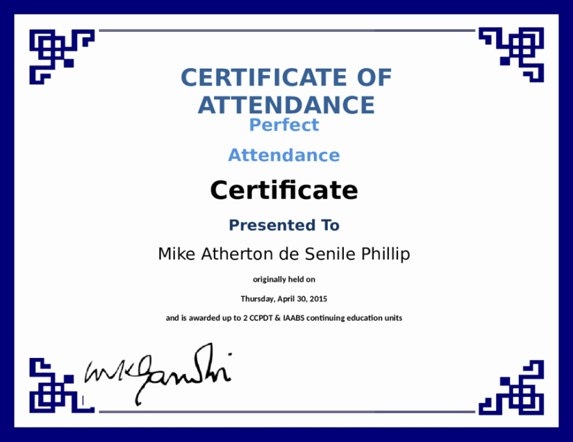Attendance Certificate format for Employees Unique 5 Certificate Of attendance Templates Word Excel Templates