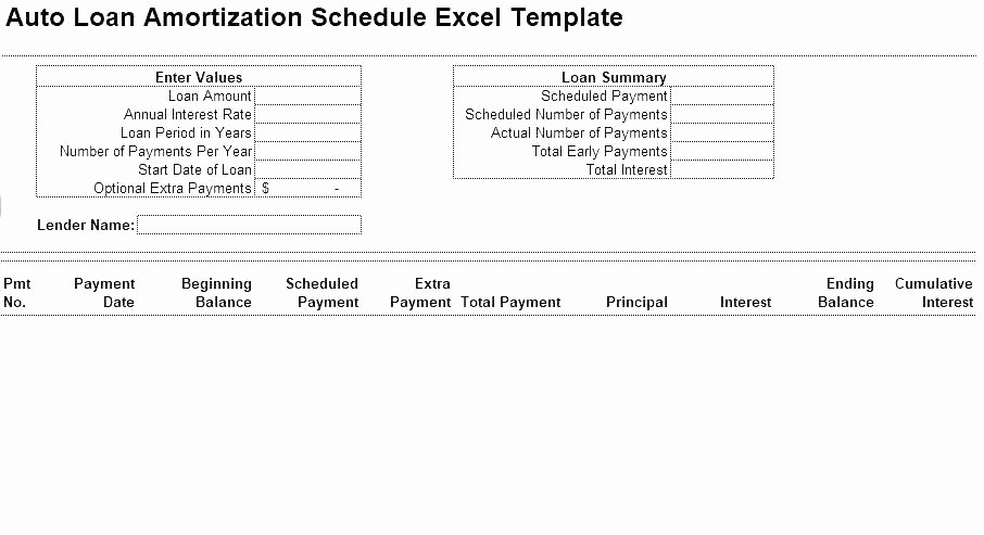 Auto Amortization Calculator Extra Payments Beautiful Bill Payment E Excel Spreadsheet Auto Loan Amortization