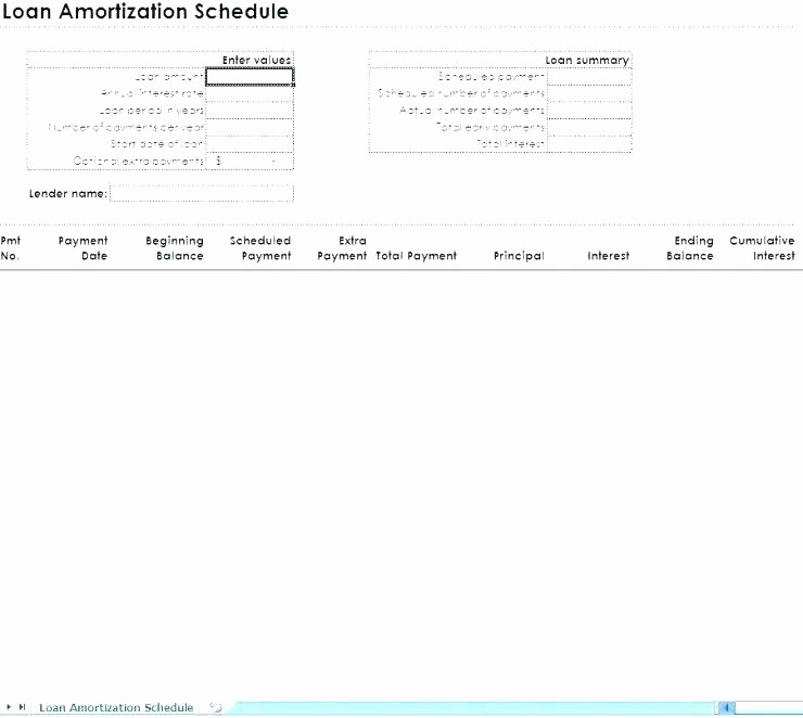 Auto Amortization Calculator Extra Payments Fresh Loan Repayment Excel Template Amortization Schedule with