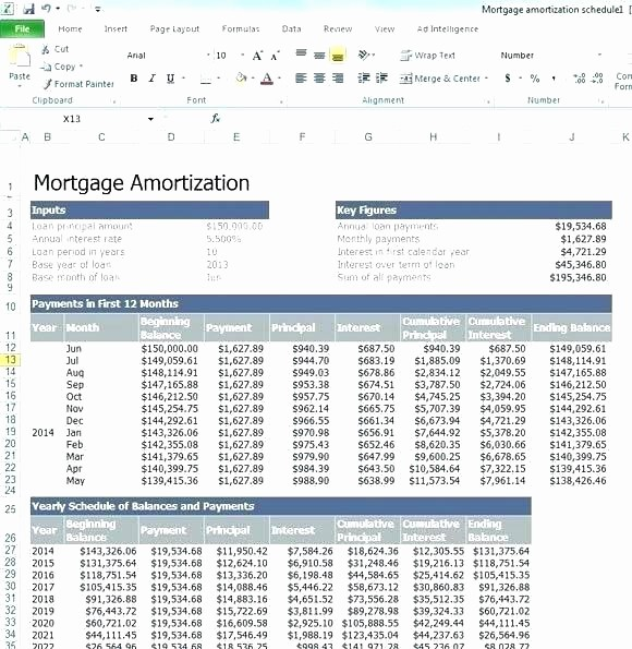 Auto Amortization Calculator Extra Payments Luxury Excel Amortization Schedule with Extra Payments Loan