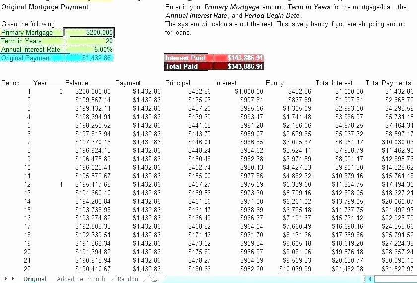 Auto Amortization Calculator Extra Payments Luxury Printable Loan Amortization Template Spreadsheet with