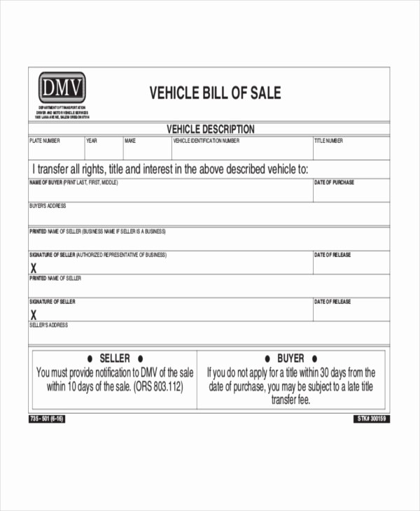 Auto Bill Of Sales form Fresh Sample Bill Of Sale Vehicle form 8 Free Documents In Pdf